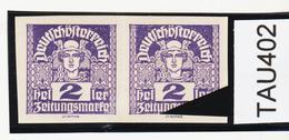 """TAU402 ÖSTERREICH 1920 Michl 293 PLATTENFEHLER (als Beweis 2 Stück Eingestellt) STRICH Unten """"u"""" ** Postfrisch - Abarten & Kuriositäten"""