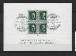 DSP134e /DRITTES REICH - HITLER- Block 9, Kulturspende Mit Stempel Düsseldorf. Schaffendes Volk.  O - Blocks & Kleinbögen
