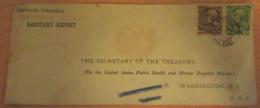 Levant Autrichien Vers Etats-Unis - Façade D'enveloppe Avec Timbres YT N°47 Et 48 - American Consulate - Vers 1908 - Levant Autrichien