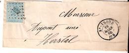 L. TP. N° 18 Los.Pts 329/ ST.TROND Du 18/3/1868 Vers HERSTAL. - 1865-1866 Linksprofil