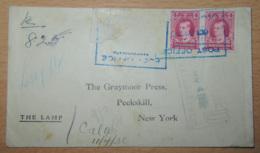 Terre-Neuve / Newfoundland - Enveloppe Vers USA Avec Paire De Timbres Michel N°132 - Beaux Cachets - 1930 - Terre-Neuve
