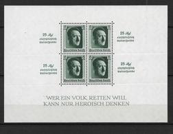 DSP135/  DRITTES REICH - HITLER-Block 9, Kulturspende 1937 (Mi.Nr. 648) ** - Blocks & Kleinbögen