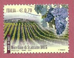 ITALIA REPUBBLICA USATO - 2013 - Made In Italy Vini DOCG - Morellino Di Scansano -  € 0,70 - S. 3425 - 6. 1946-.. Republic