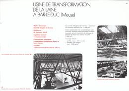 Vers 1970 - Iconographie - Bar-le-Duc (Meuse) - L'usine De Transformation De La Laine - FRANCO DE PORT - Non Classés