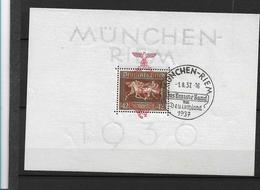 DSP136a/  DRITTES REICH - Block 10, Braunes Band, München-Riem  Vom 1.8.37 O - Blocks & Kleinbögen
