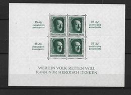 DSP137/ DRITTES REICH- HITLER- Block 11, Zudruck Reichsparteitag 1937 ** - Blocks & Kleinbögen
