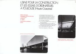 Vers 1970 - Iconographie - Toulouse (Haute-Garonne) - L'usine D'ordinateurs - FRANCO DE PORT - Non Classés