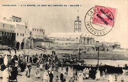 MAROC - CASABLANCA - A LA MARINE LE JOUR DE L'ARRIVEE DU GALILEE - Casablanca