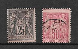 France Type Sage De 1881/90 N°97 Et 98 Oblitérés - 1876-1898 Sage (Type II)
