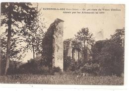 ECHENOZ-LE-SEC . CE QUI RESTE DU VIEUX CHATEAU DETRUIT PAR LES ALLEMANDS EN 1870 . NON ECRITE - Francia