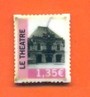 Fève De La Serie Les Timbres Postes - 1,35 Euro Le Théatre ( Saint Dizier ) - Regions