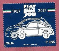 ITALIA REPUBBLICA USATO - 2017 - 60º Anniversario Della Produzione Della Fiat Nuova 500 - € 0,95 - S. 3772 - 2011-...: Usati