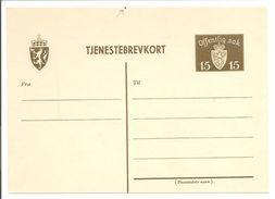 Norge.Norges Helpost. Tjenestebrevkort Michel DP16 Y - Entiers Postaux