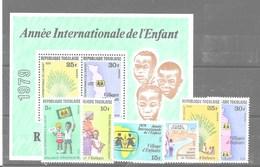 Serie Y Hoja Bloque De Togo Nº Yvert 954/59 Y HB-129 ** - Togo (1960-...)