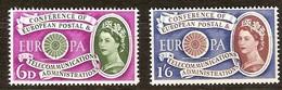 Grande Bretagne United Kingdom  1960  Yvertn° 357-358 *** MNH Cote 14 Euro CEPT Europa - Neufs