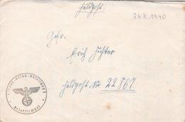 German Feldpost WW2: To Stab Panzerjager-Abteilung 5 FP 22867 From 1./Fahr - Ersatz - Abteilung 5 - Guerre Mondiale (Seconde)