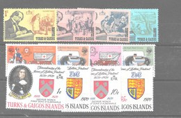 3 Series De Turks Y Caicos Nº Yvert 237/40, 241/42 Y 243/45 ** - Islas Cocos (Keeling)