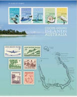 COCOS 2013 MARINE LIFE MAP AIRPLANE BIRD BOAT STAMP ON STAMP MINI SHEET 15942-10 - Stamps On Stamps