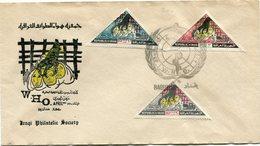 IRAQ ENVELOPPE 1er JOUR DES N°408/410 ORGANISATION MONDIALE DE LA SANTE OBLITERATION BAGHDAD 30-4-1965 - Iraq