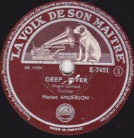 78 Trs - 25 Cm - état TB - Marion ANDERSON - DEEP RIVER - HEAV'N HEAV'N - 78 T - Disques Pour Gramophone