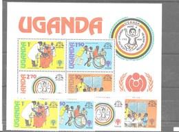 Serie Y Hoja Bloque De Uganda Nº Yvert 210/13 Y HB-15 ** - Uganda (1962-...)