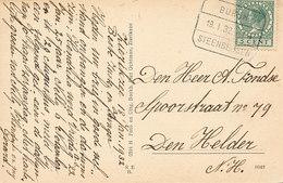 DP00529 - NEDERLAND - TREINSTEMPEL BURGH-STEENBERGEN 1932 - KAART ZIERIKZEE - Poststempels/ Marcofilie