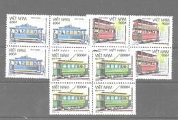 Bloque De 4 De Vietnam Nº Yvert 1506/08 **  TRENES (TRAINS) - Vietnam
