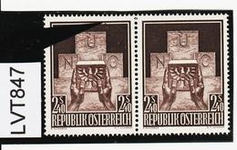 LTV847 ÖSTERREICH 1956 Michl 1025 PLATTENFEHLER FARBFLECK MARKENRAND ** Postfrisch - Abarten & Kuriositäten