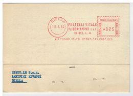 Cartolina Commerciale Biella - Fratelli Vitale Fu Beniamino - Biella