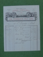 GF2- 1878  Facture  CH. LORILLEUX  Paris Encre Imprimerie Typographie Lithographie - 1800 – 1899