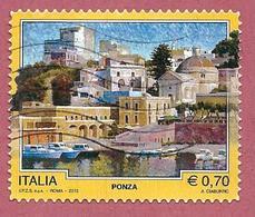 ITALIA REPUBBLICA USATO - 2013 - TURISMO TURISTICA - Ponza - 0,70 € - S. 3440 - 1946-.. Republiek