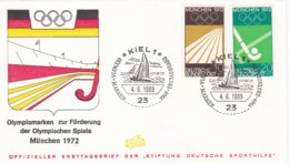 Germany Cover 1972 München Olympic Summer Games - Kiel FDC   (EB1-31) - Zomer 1972: München