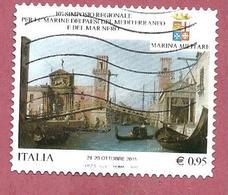 ITALIA REPUBBLICA USATO - 2015 - 10º Simposio Regionale Marine Paesi Mediterraneo E Mar Nero - € 0,95 - S. 3633 - 2011-...: Usati