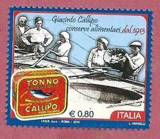 ITALIA REPUBBLICA USATO - 2014 - Conserve Alimentari Callipo - € 0,80 - S. 3534 - 2011-...: Usati