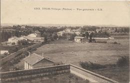 D69 - BRON-VILLAGE - VUE GENERALE - Au Verso Cachet Militaire - Bron