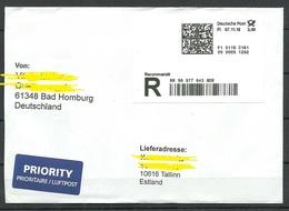 DEUTSCHLAND 2018 R-Brief Nach Estland - BRD