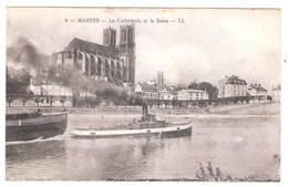 Remorqueur à Mantes (78 - Yveline)  La Seine - Remorqueurs