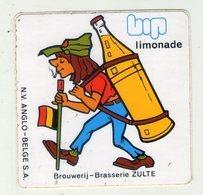 AUTOCOLLANT . STICKER . ZULTE .  LIMONADE  BIP . BROUWERIJ - BRASSERIE .  GLOBE TROTTEUR - Stickers