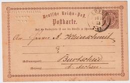 "1873, "" EUPEN "" Tres Claire, Entier 1/2 Gr.  , #a1314 - [OC55/105] Eupen/Malmédy"