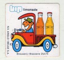 AUTOCOLLANT . STICKER . ZULTE .  LIMONADE  BIP . BROUWERIJ - BRASSERIE .  LIVREUR - Stickers