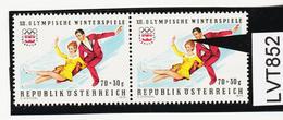 """LTV852 ÖSTERREICH 1975 Michl 1499 PLATTENFEHLER """"HAARBÜSCHEL"""" ** Postfrisch - Abarten & Kuriositäten"""