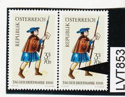 """LTV853 ÖSTERREICH 1966 Michl 1229 PLATTENFEHLER """"FARBFLECK"""" ** Postfrisch - Abarten & Kuriositäten"""