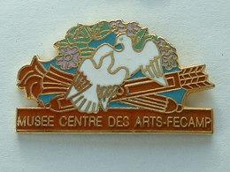 Pin's MUSEE - CENTRE DES ARTS - FECAMPS - OISEAU - FLECHE - EMAIL - Cities