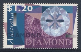 Australia 1996 Mi 1594 Sc 1555 SG 1642 ** Diamond / Geschliffener Diamant + Hologram / Hologrammfolie - Mineralen