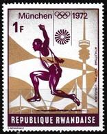 T.-P. Gommé Neuf** - Jeux Olympiques De Munich Athlétisme Saut En Longueur - N° 488 (Yvert) - République Rwandaise 1972 - Rwanda