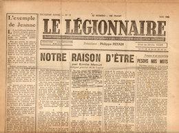Le Légionnaire - Organe Officiel De La Légion Française Des Combattants Nr. 19 Mai 1942 - 1939-45