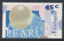 Australia 1996 Mi 1593 Sc 1554 SG 1641 ** Pearl / Perle / Parel + Exelgram / Mit Lacküberzug - Mineralen