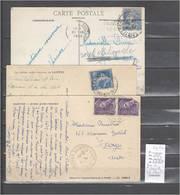 Lettres Cachet  Gare De Saintes  En Charente Maritime  -  3 Piéces - Indice 5 - Postmark Collection (Covers)