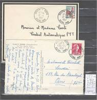 Lettres Cachet  Rouen Gare Seine Maritime - 2 Piéces - Indice 10 - Postmark Collection (Covers)