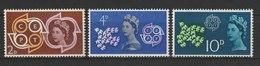 MiNr. 346 - 348  Großbritannien / 1961, 18. Sept. Europa. - 1952-.... (Elisabeth II.)